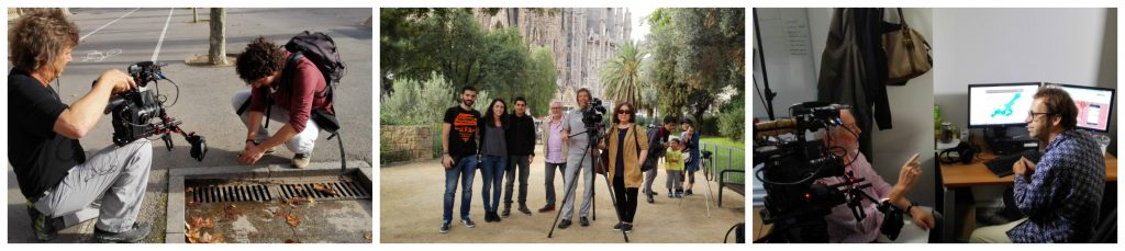 Making off the filming in Barcelona (October 2016).