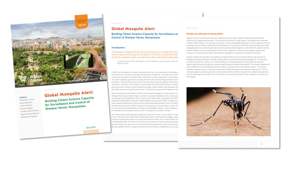 Global Mosquito Alert Workshop Report