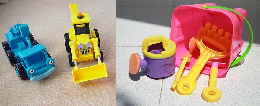Los juguetes que se quedan en el exterior pueden ser lugares de cría si acumulan agua.