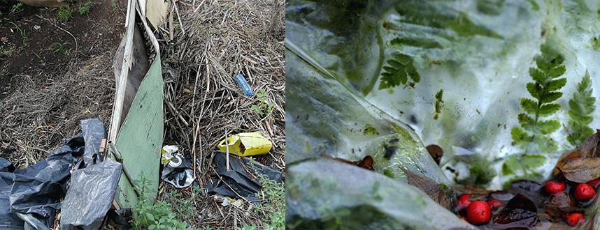 Hay que eliminar el agua de cualquier plástico.