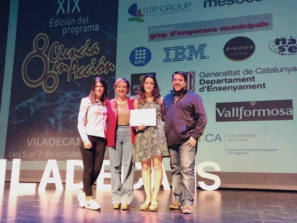 Ariadna Peña (Xatrac), Gisela Mavarro (Ayto. de Viladecans), Marina Torres (Mosquito Alert) y Tomás Montalvo (ASPB). Foto: Gisela Navarro.