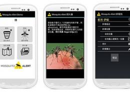 Versión 'demo' china de la app Mosquito Alert.