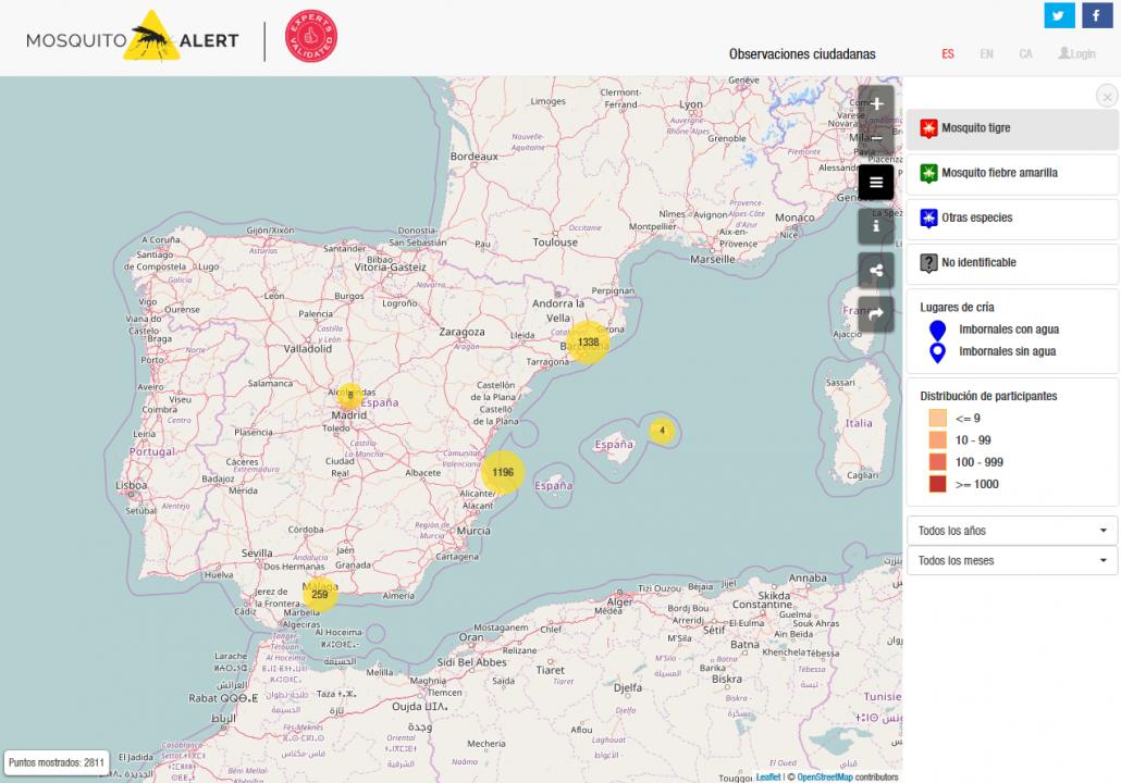 El nuevo mapa de observaciones ciudadanas tiene más funcionalidades.